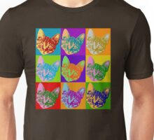 Cat Pop Art  Inspired Graphic Cats Kitty Bright Color Design Unisex T-Shirt