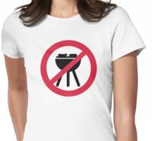 No BBQ barbecue Womens Fitted T-Shirt