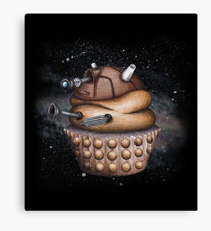 Exterminate All Cupcakes Canvas Print