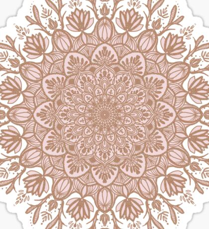Rose Gold Beige Mandala Sticker