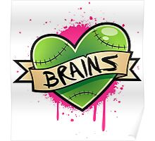 I Heart Brains Poster