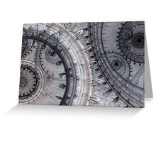 Gray time Greeting Card