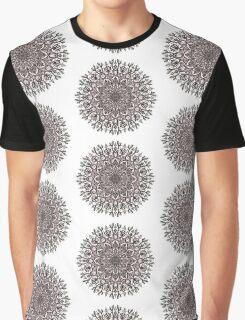 Black Beige Mandala  Graphic T-Shirt