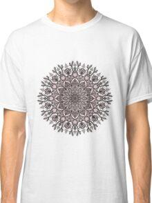 Black Beige Mandala  Classic T-Shirt