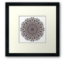 Black Beige Mandala  Framed Print