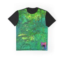 Green Splatagram Graphic T-Shirt