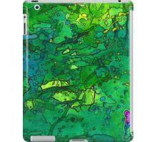 Green Splatagram iPad Case/Skin