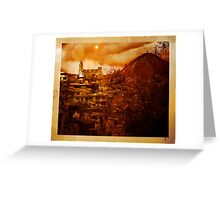 A View In Azogues Greeting Card