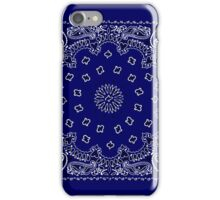 Navy Blue Hanky,Handkerchief iPhone Case/Skin