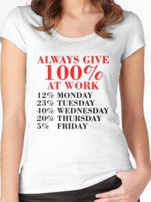 100% Percent at Work Women's Fitted Scoop T-Shirt