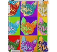 Cat Pop Art  Inspired Graphic Cats Kitty Bright Color Design iPad Case/Skin