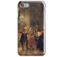 Flute Concert with Frederick the Great in Sanssouci   by Adolph Menzel iPhone Case/Skin