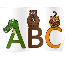 "Kids ""A B C"" Animals Poster"