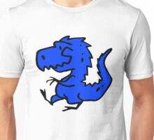 Blue Cartoon Dinosaur Drawing Unisex T-Shirt