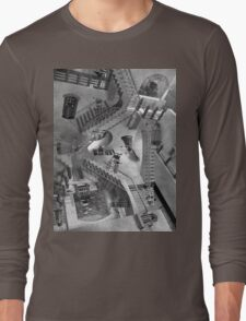 Escher's Asylum of the Daleks Long Sleeve T-Shirt