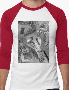 Escher's Asylum of the Daleks Men's Baseball ¾ T-Shirt