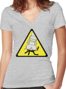AT-AT Crushing Hazard Women's Fitted V-Neck T-Shirt