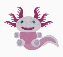 Cute Axolotl and The Bubbles Kids Tee