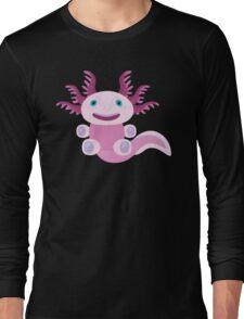 Cute Axolotl and The Bubbles Long Sleeve T-Shirt
