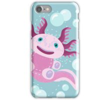 Cute Axolotl and The Bubbles iPhone Case/Skin