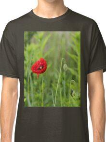 Red Poppy - Green Classic T-Shirt