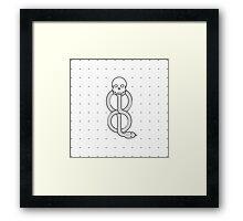 Minimalist Dark Marks HP Framed Print