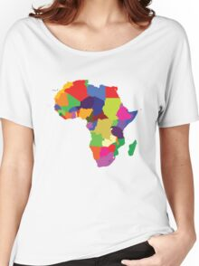 Africa (Continent) Women's Relaxed Fit T-Shirt