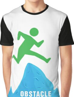 Stickman Jumping Over Obstacle Graphic T-Shirt