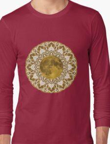 GOLD MOON MANDALA Long Sleeve T-Shirt
