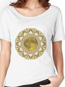 GOLD MOON MANDALA Women's Relaxed Fit T-Shirt