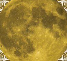 GOLD MOON MANDALA Sticker
