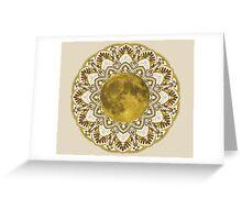 GOLD MOON MANDALA Greeting Card