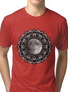 SILVER MOON MANDALA Tri-blend T-Shirt