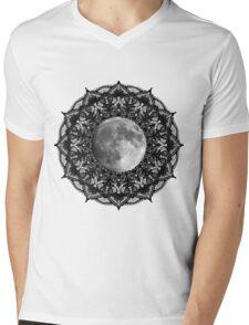 SILVER MOON MANDALA Mens V-Neck T-Shirt