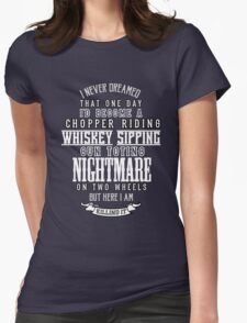 Nightmare on Two Wheels Womens Fitted T-Shirt