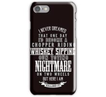 Nightmare on Two Wheels iPhone Case/Skin