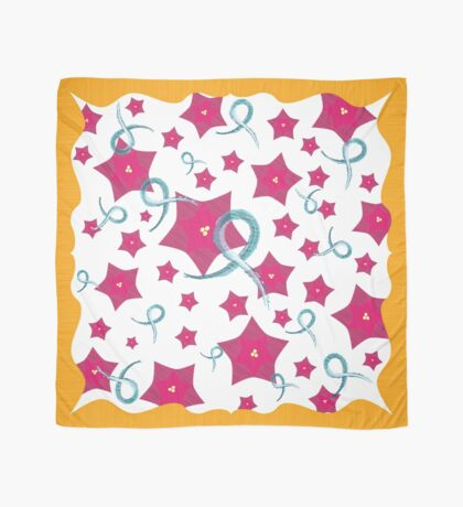 Ovarian Cancer Floral Design Scarf