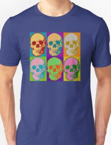 Skull Pop Art Retro Graphic Skulls Bright Color Design Unisex T-Shirt