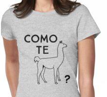 Como te llama? Womens Fitted T-Shirt