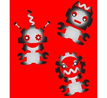 Game Gear Robots Photographic Print