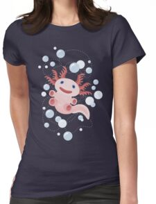Axolotl and The Bubbles Womens Fitted T-Shirt