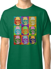 Frankenstein Pop Art Retro Graphic Design Halloween  Classic T-Shirt