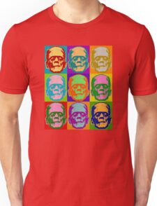 Frankenstein Pop Art Retro Graphic Design Halloween  Unisex T-Shirt