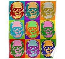 Frankenstein Pop Art Retro Graphic Design Halloween  Poster