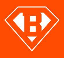 B letter in Superman style Kids Tee