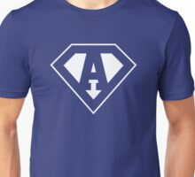 A letter in Superman style Unisex T-Shirt