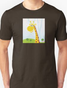 African Giraffe. Vector Illustration of funny animal. Unisex T-Shirt