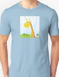 African Giraffe. Vector Illustration of funny animal. Unisex T-Shirt
