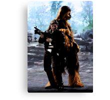 Han and Chewie, Takodana Canvas Print