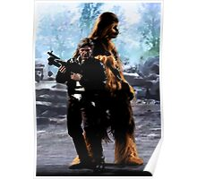 Han and Chewie, Takodana Poster